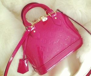 bag, pink, and LV image