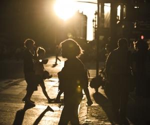 cross walk, monochrome, and new york city image