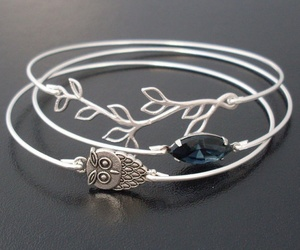accessories, bracelet, and owls image