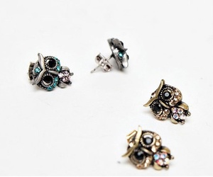 accessories, owls, and earrings image
