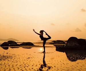beautiful, fit, and yoga image