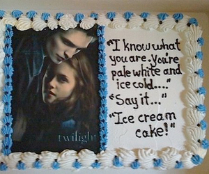 twilight, funny, and cake image