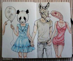 hope, panda, and snake image