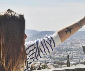 girl, tattoo, and travel image