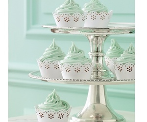 cupcakes, green, and mint image
