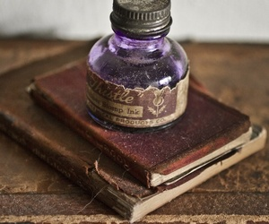 book, vintage, and ink image