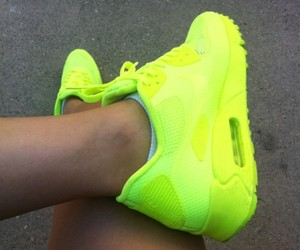 nike, neon, and shoes image