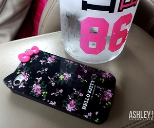 case, hello kitty, and iphone image