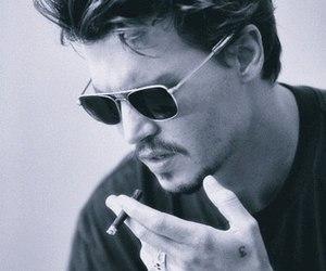 johnny depp, sexy, and smoke image