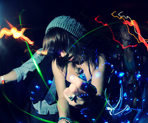 girl, party, and light image