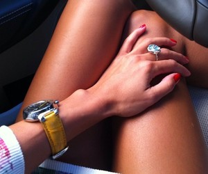 girl, red nails, and skinny image