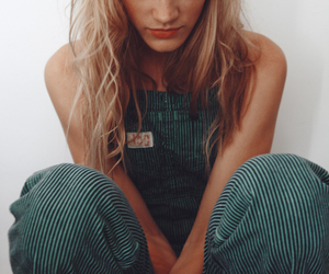 overalls and girl image