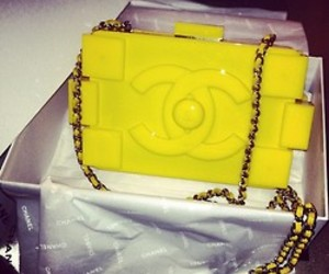 chanel, bag, and yellow image