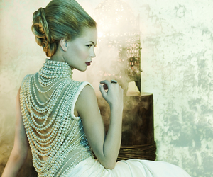 pearls, fashion, and dress image