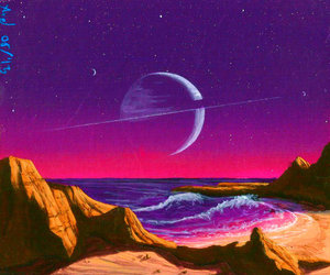art, planet, and space image