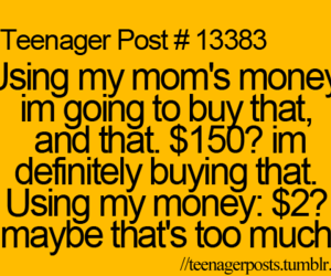 teenager post, money, and funny image