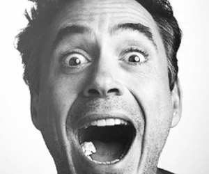 robert downey jr, black and white, and actor image