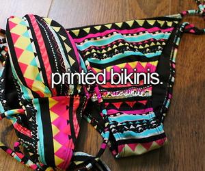 bikini, summer, and printed image