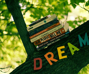 Dream, book, and tree image