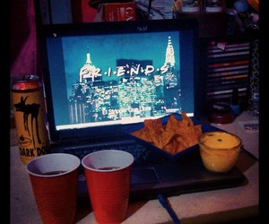 laptop, nachos, and tv show image