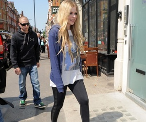 Avril Lavigne, blonde, and heels image