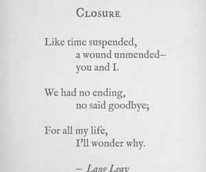 poem, closure, and goodbye image
