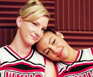 glee, brittana, and naya rivera image