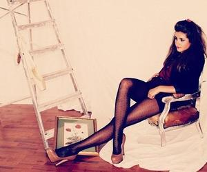brunette, chair, and classy image
