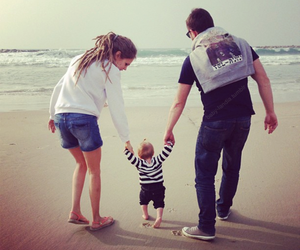 adorable, baby, and beach image