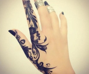 tattoo, henna, and black image