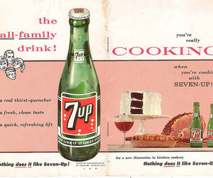 7up, poster, and vintage image