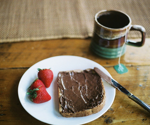 breakfast, cup, and nutella image
