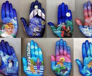 art, hand, and cool image