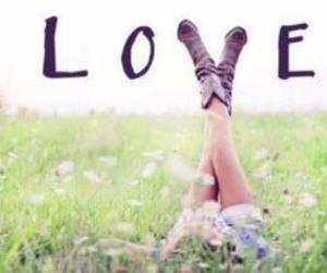 love and flowers image
