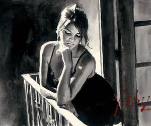 art, beauty, and black hair image