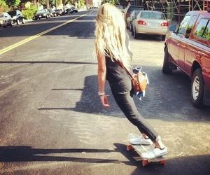 girl, skate, and summer image