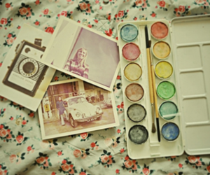 vintage, paint, and photography image