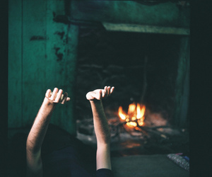 fire, hands, and indie image