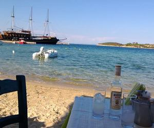 beach, greek, and restaurant image