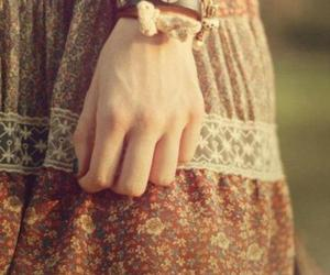 bracelet, girl, and peace image