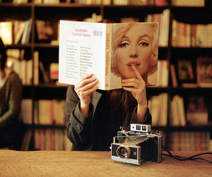 book, Marilyn Monroe, and vintage image