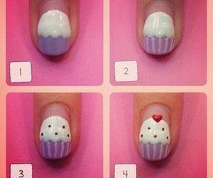 nails, cupcake, and diy image