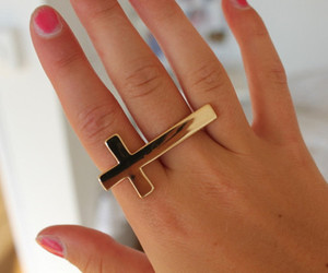 ring, cross, and gold image