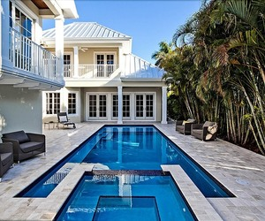 exterior design and pool detail image