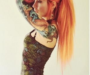 colored hair, orange hair, and girl image