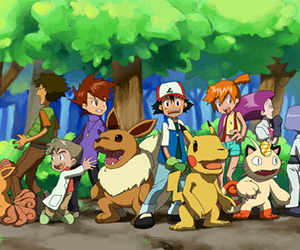 pokemon, crossover, and digimon image