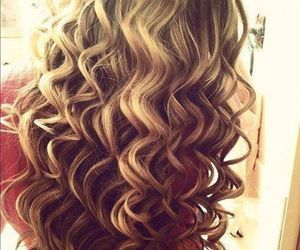 hair, curls, and blonde image