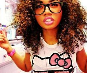 hello kitty, swag, and curly hair image