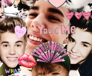 justin, cute, and justin bieber collage image