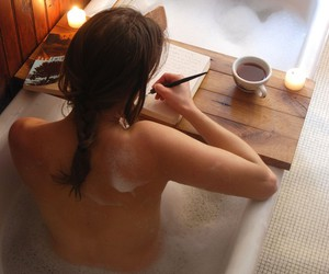 arms, bath, and book image